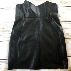 Dresses & Skirts - Faux black leather skirt